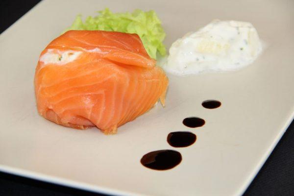 Aumônière de saumon fumé surprise