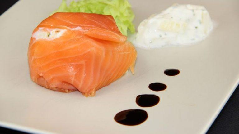 aumônière de saumon aux asperges
