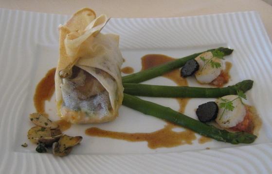 Croustillant de saumon et foie gras