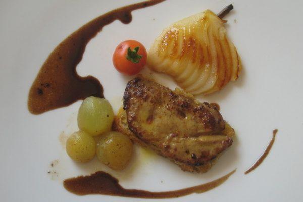 Escalope de foie gras aux fruits d'automne