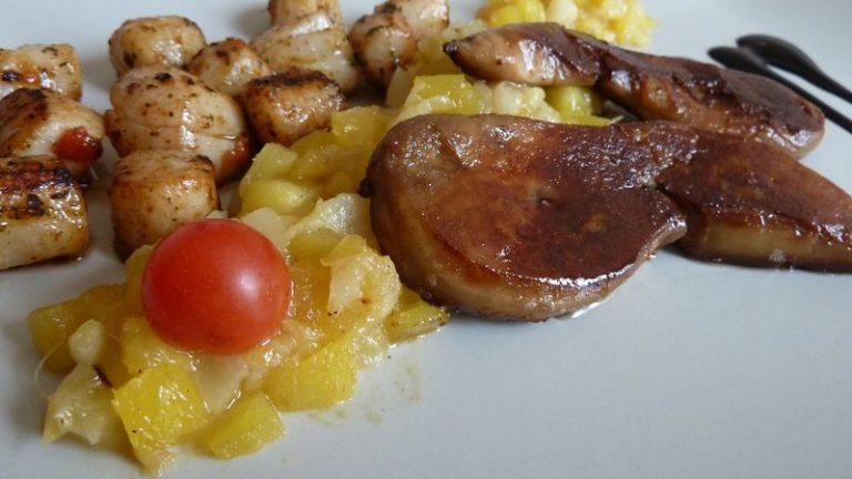 escalope de foie gras mangues