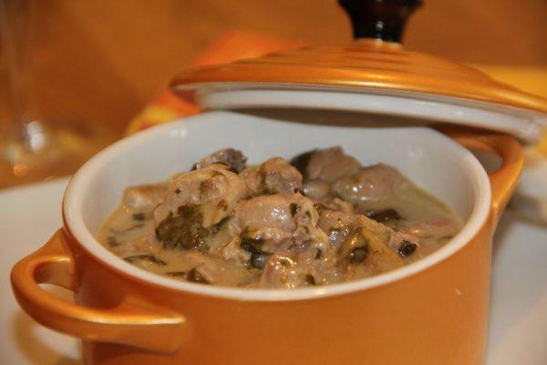 Cassolette de ris de veau à l'oseille
