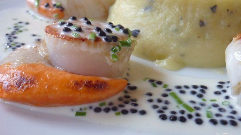 saint Jacques caviar hareng