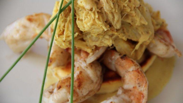 curry de crabe et crevettes