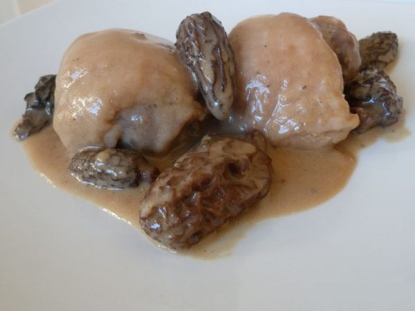 Mijoté de poulet aux morilles