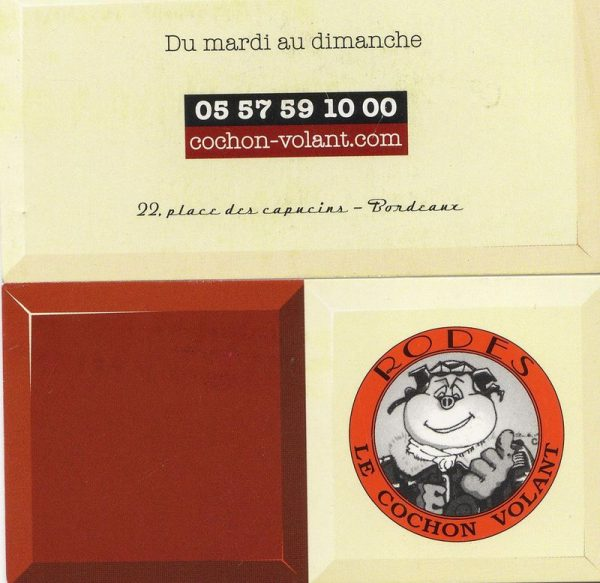 Le cochon volant – Bordeaux