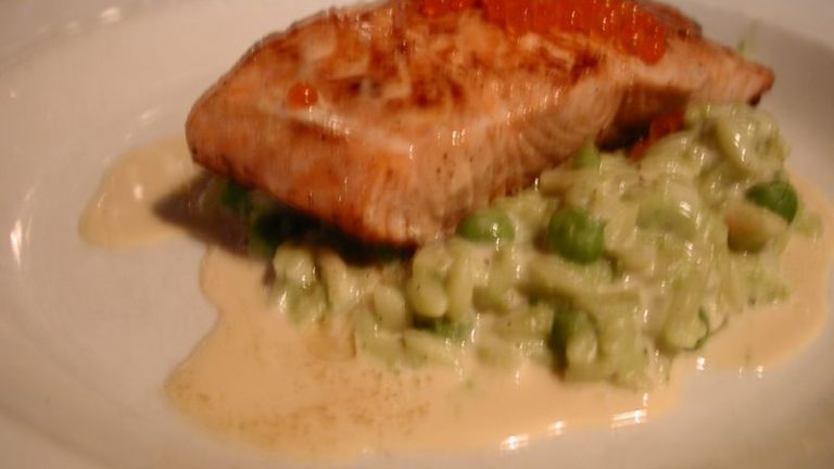 saumon risotto petits pois