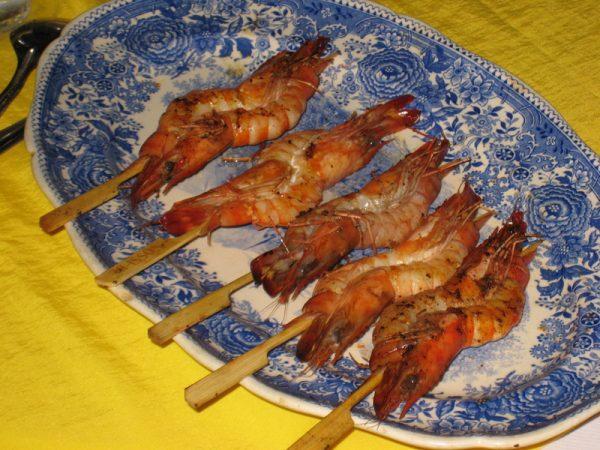 Brochette de crevettes «Sexy»