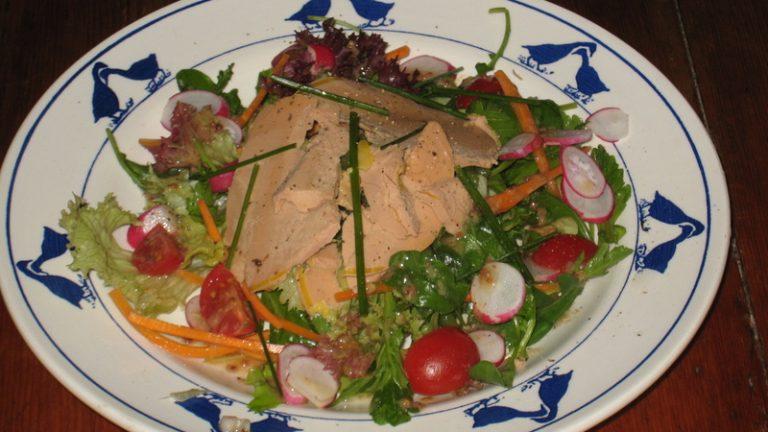 salade folle au foie gras
