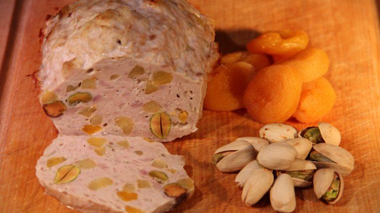 Terrine veau abricot sec et pistache
