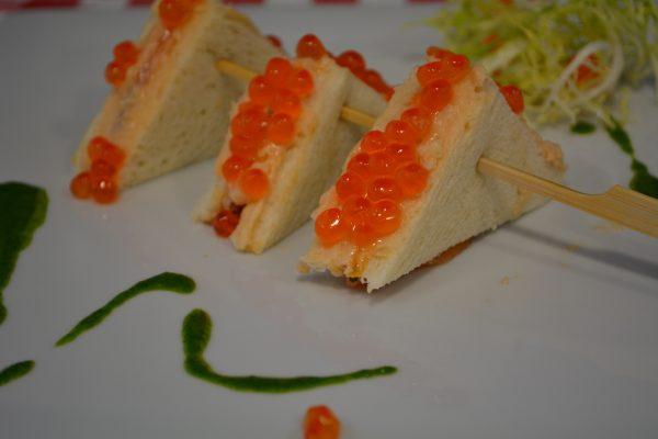 Croque de tarama de saumon