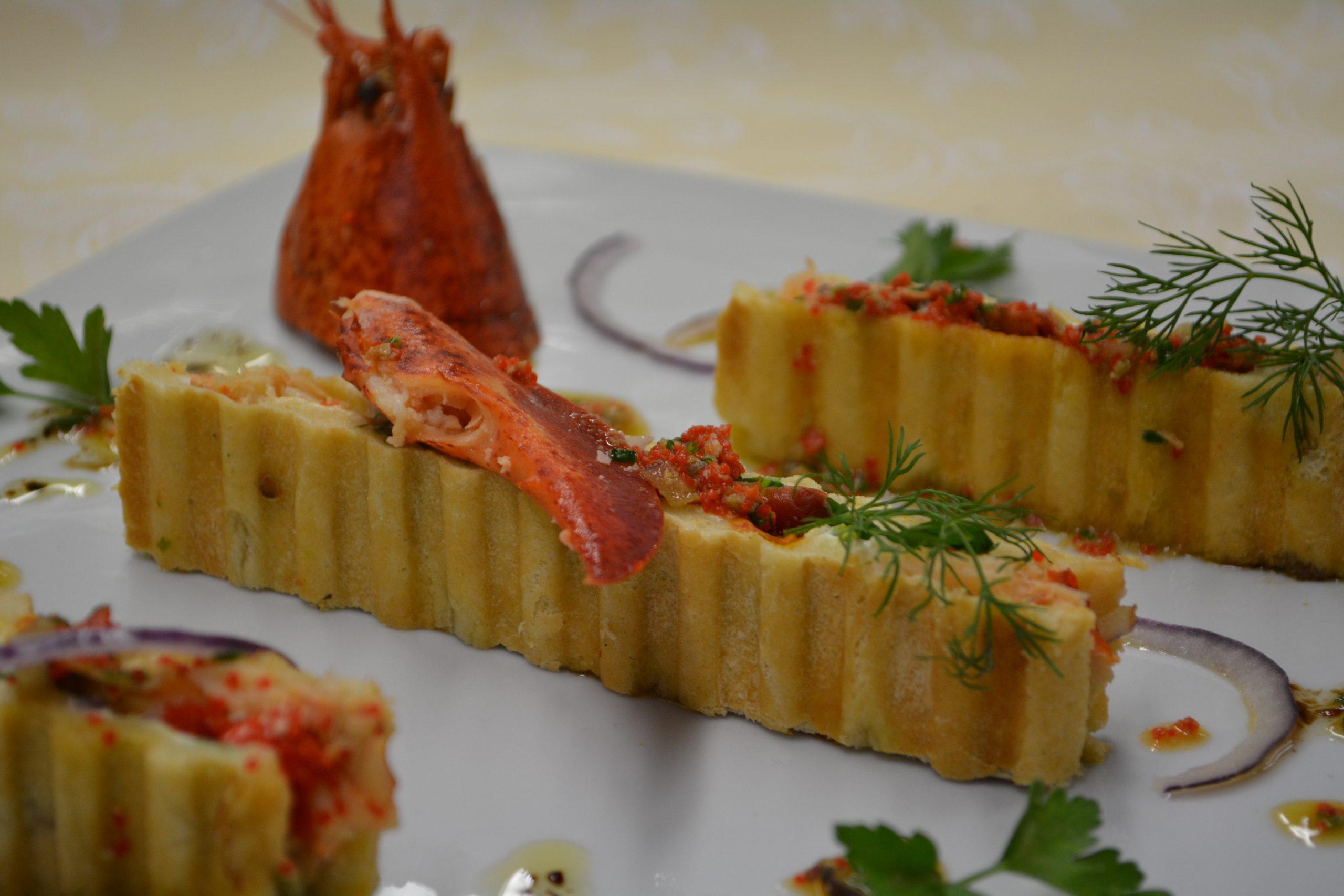 Focaccia de homard et asperges