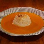 Ile flottante au parmesan sur crème de potimarron