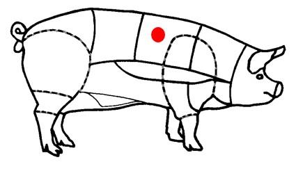 Côte de cochon à l'os