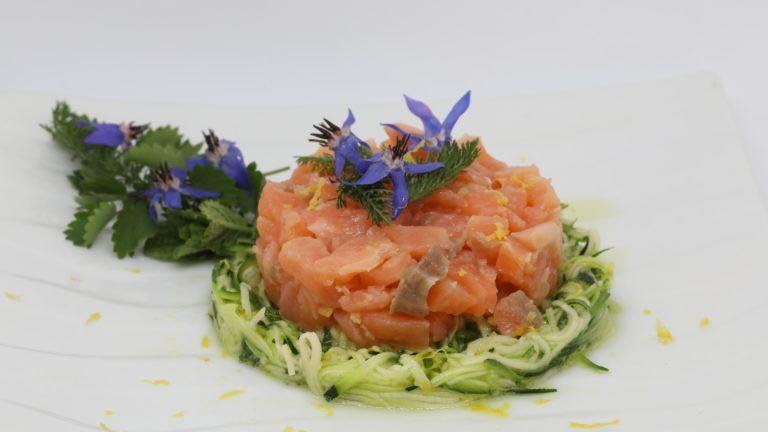 Tartare saumon courgette