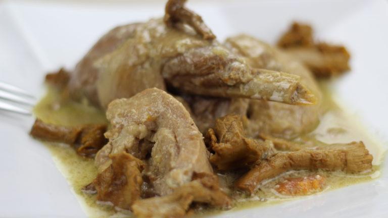 poulet aux girolles