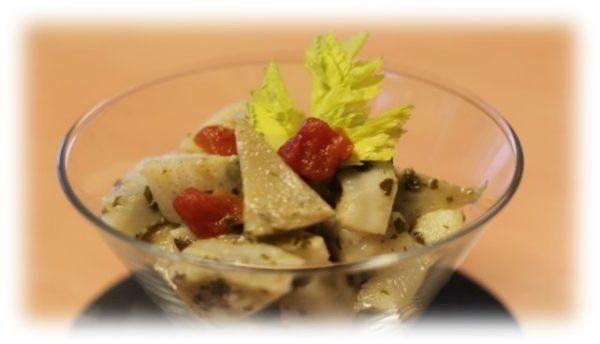 Grecque de fonds d'artichaut – Cuisson sous vide basse température